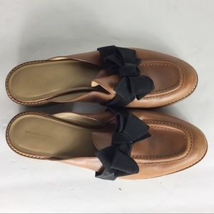 Michael Kors Brown Black Slip In Mule Italy Loafer
